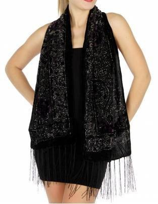 black shawl with mini tank dress