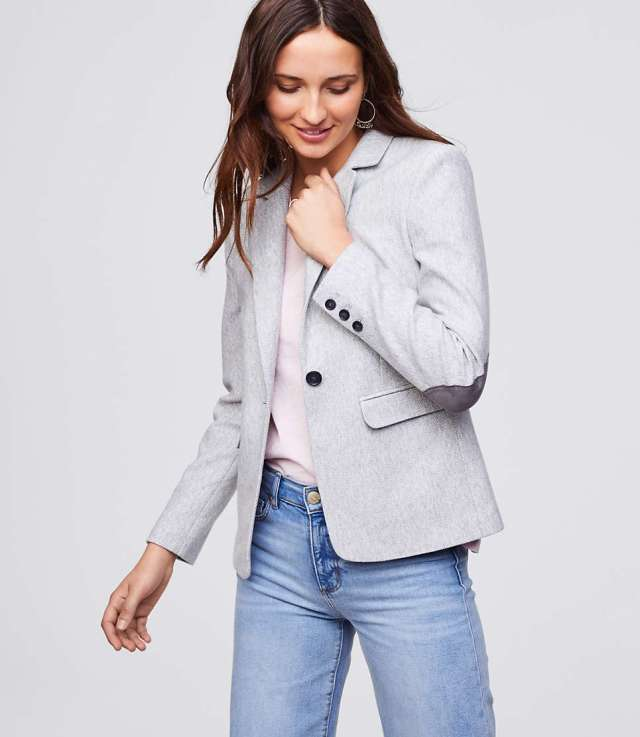 blazer with elbow patches basics