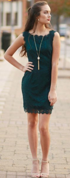 how to style dark teal dress: 15 amazing outfit ideas - fmag
