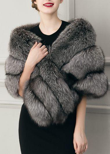 faux fur cape ladylike