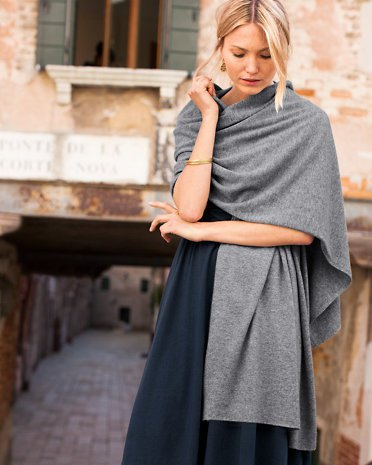 grey cashmere wrap navy maxi dress