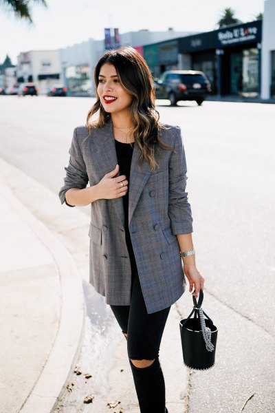 How To Wear Plaid Blazer 15 Stylish Outfit Ideas For