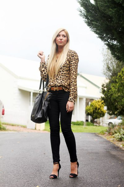 241fa8ed3bcfcd How to Wear Leopard Print Blouse: Top 15 Outfit Ideas - FMag.com
