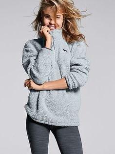 light grey fleece pullover with leggings