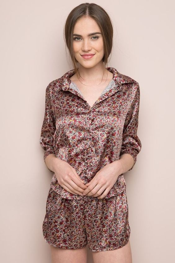 lisette shorts floral set