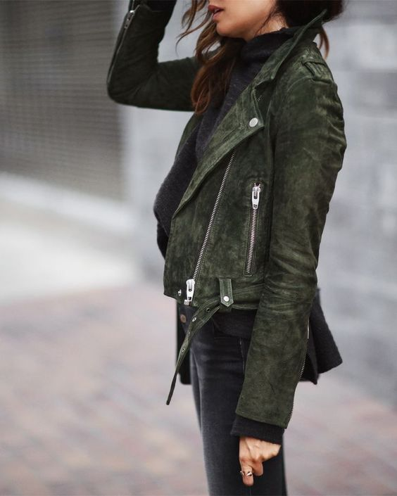 olive green jacket casual