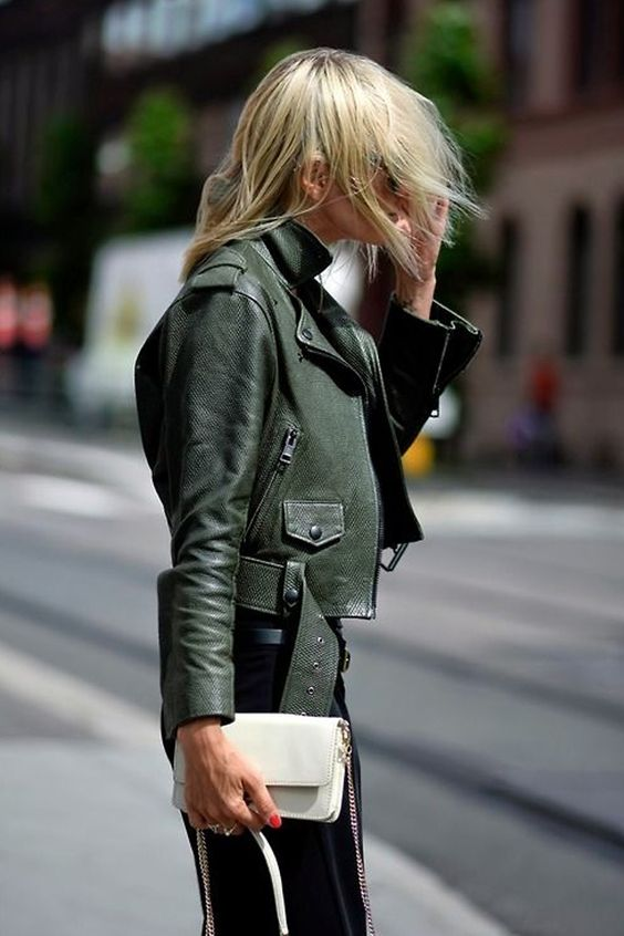 olive green jacket cropped