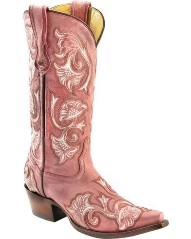 pink cowgirl boots floral