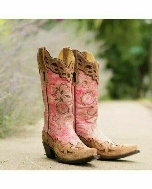 pink cowgirl boots rustic