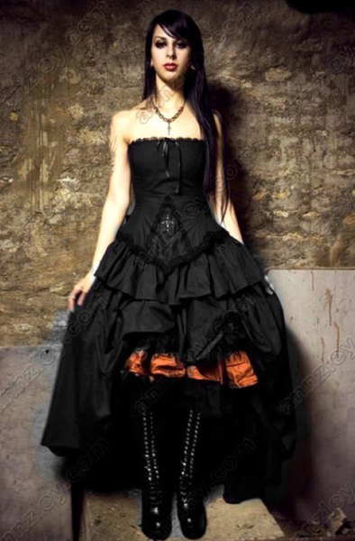 ruffle high low maxi dress black lace up mid calf boots