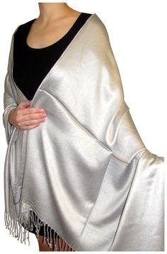 silver fringe shawl black tank mini dress