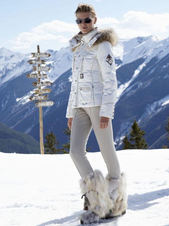 ski pants all white