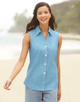 sky blue sleeveless shirt grey jogger pants