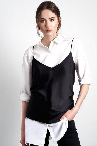 white oversized white shirt