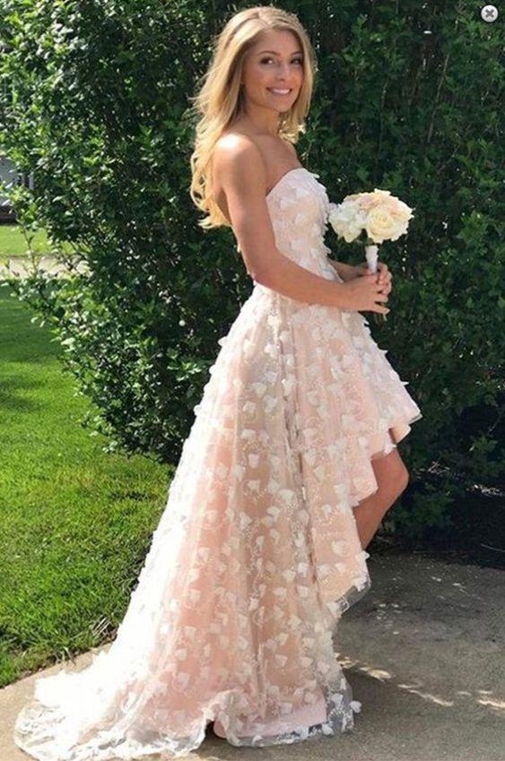 high low prom dress confetti