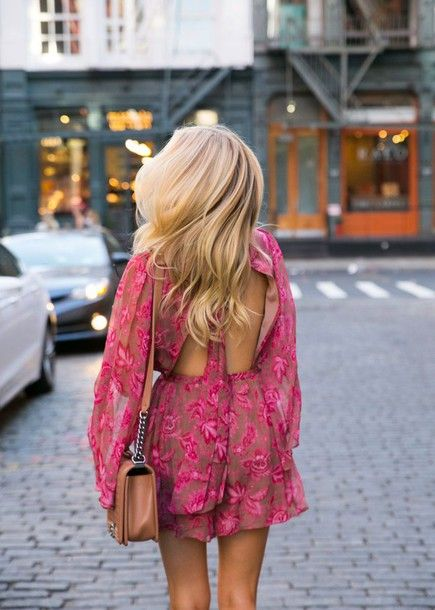 backless jumpsuit pink