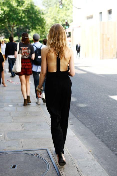 backless jumpsuit vertical strap