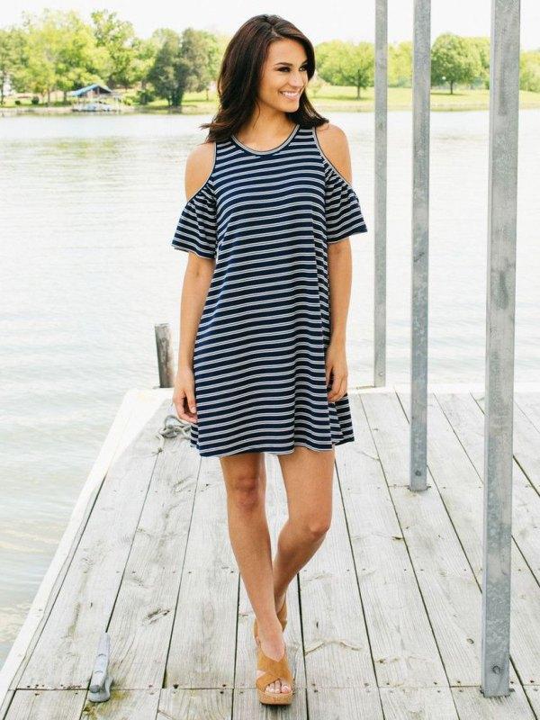 best open shoulder dress outfit ideas