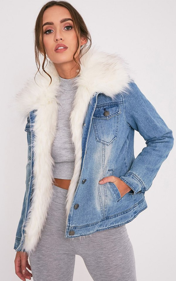 How To Style Fur Lined Denim Jacket 15 Outfit Ideas For Ladies