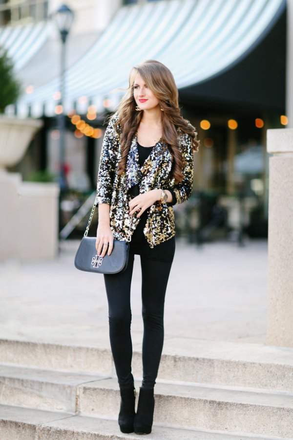943fccb80a731 How to Wear Sequin Blazer: 15 Amazing Outfit Ideas - FMag.com