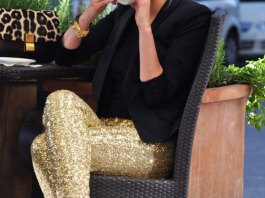 best gold sequin leggings outfits