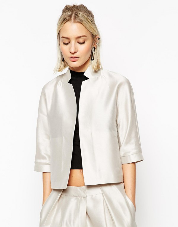 best silk jacket outfit ideas