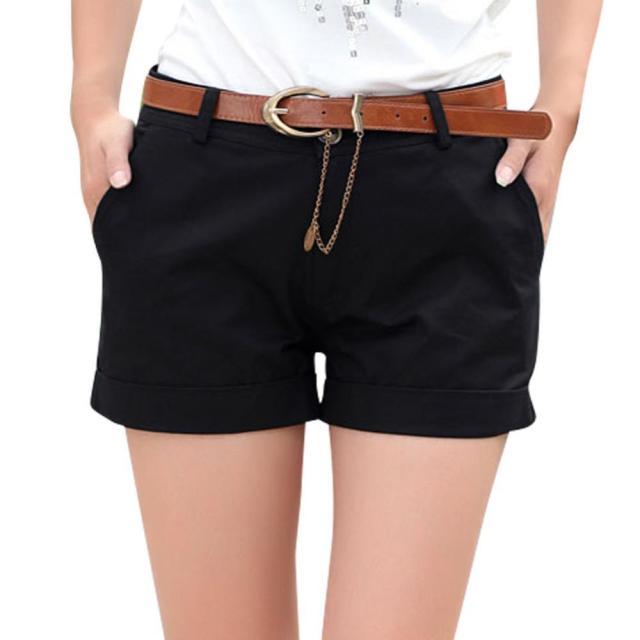 black cargo shorts belted