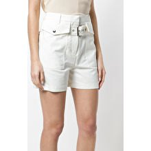 blush pink top white cargo shorts