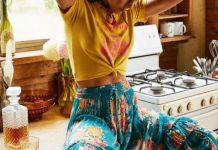 broomstick skirt hippie