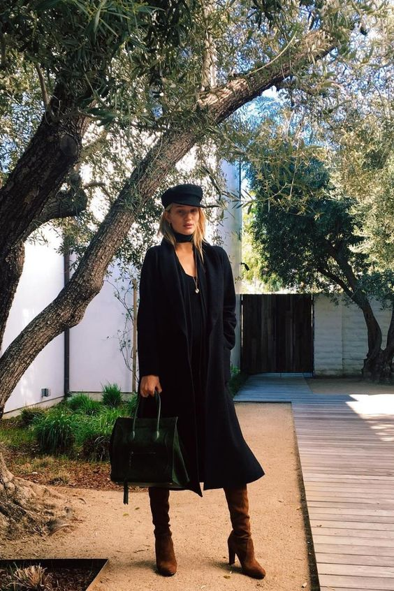greek fisherman hat black dress
