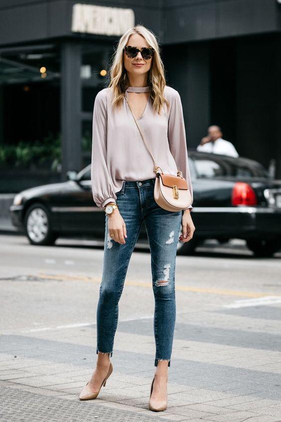keyhole shirt lilac silk