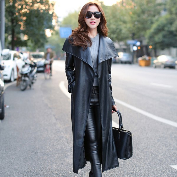 best leather coat outfit ideas
