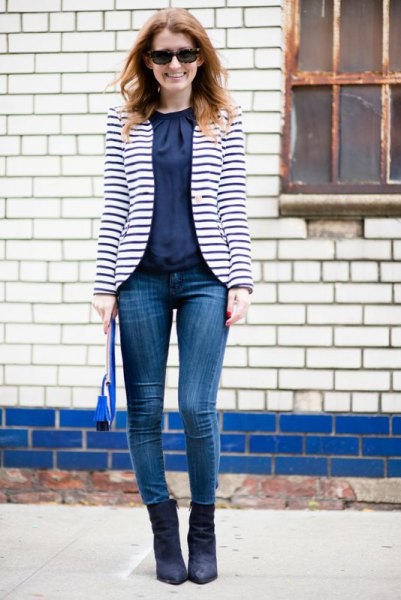 How to Wear Striped Blazer: 15 Best Outfit Ideas for Women ...