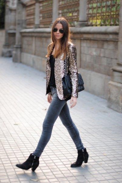 How To Wear Sequin Blazer 15 Amazing Outfit Ideas Fmag Com
