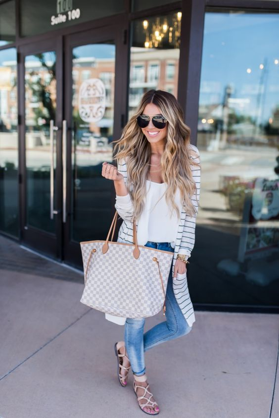 striped cardigan summer