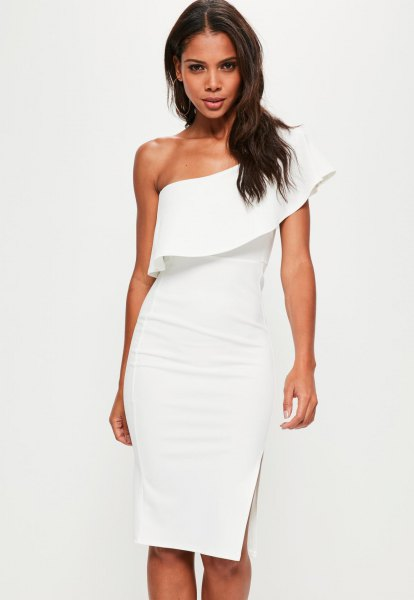 18ce4581f57 How to Wear White One Shoulder Dress  Best 15 Outfit Ideas - FMag.com