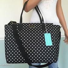 white sleeveless lace chiffon top black polka dot purse