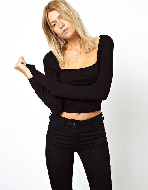 best square neck top outfit ideas