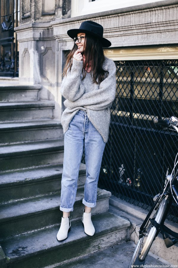 best vintage high waisted jeans outfit ideas