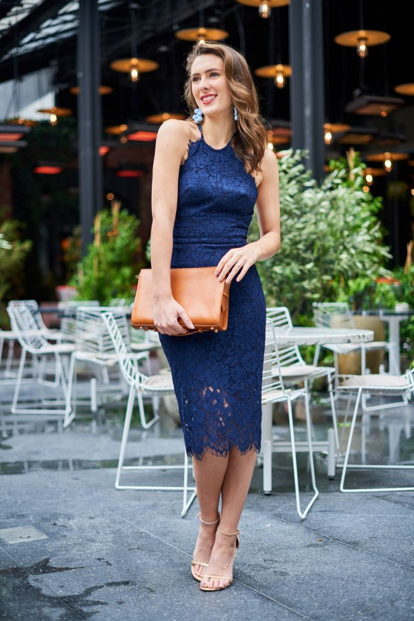 e48d9adaea5d How to Wear Navy Lace Dress  15 Elegant Outfit Ideas - FMag.com