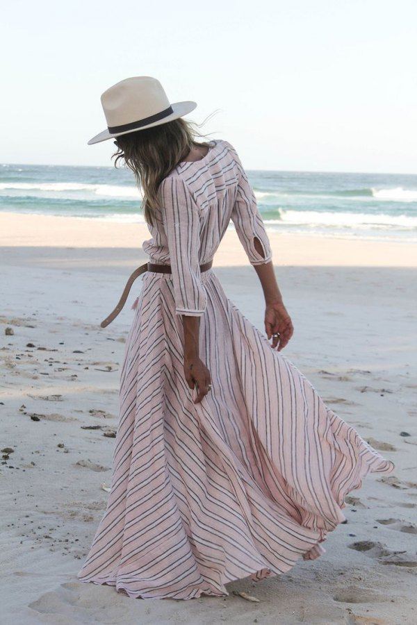 best long white summer dress
