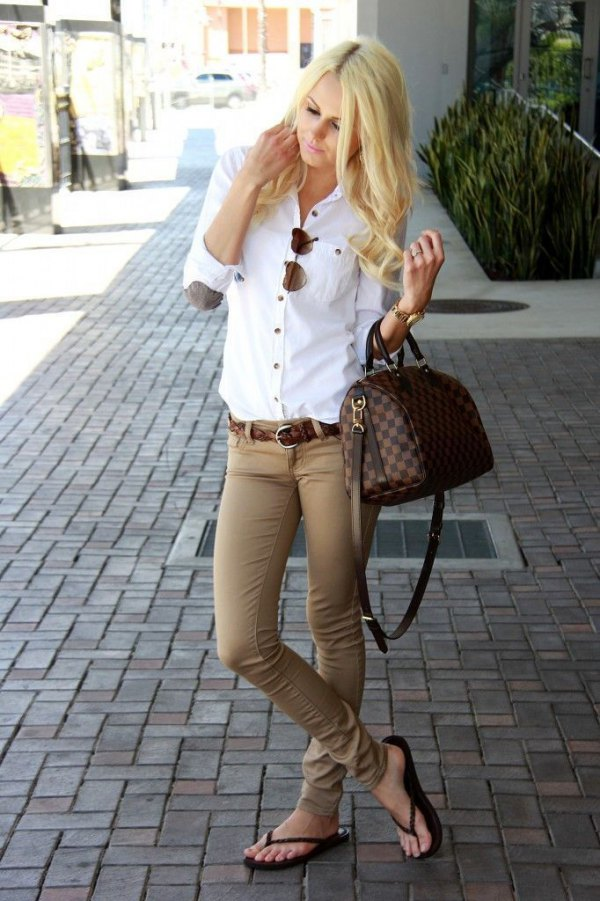 How to Style Khaki Jeans: 15 Stylish Outfit Ideas for Ladies