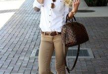 best khaki jeans outfit ideas for women