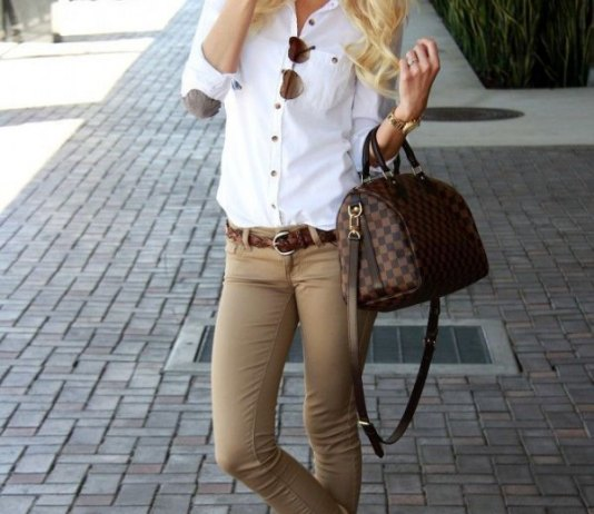 best khaki jeans outfit ideas for women