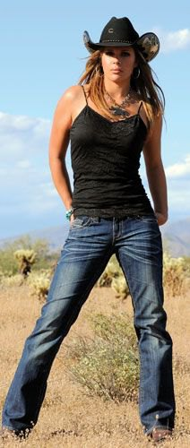 black camisole and dark blue straight leg jeans