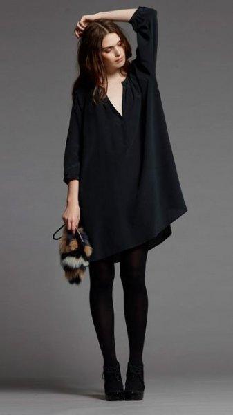 How To Wear Black Tunic Dress Low Profile Yet Beautiful