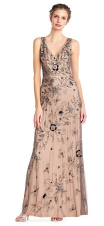 floral chiffon v neck pleated maxi dress