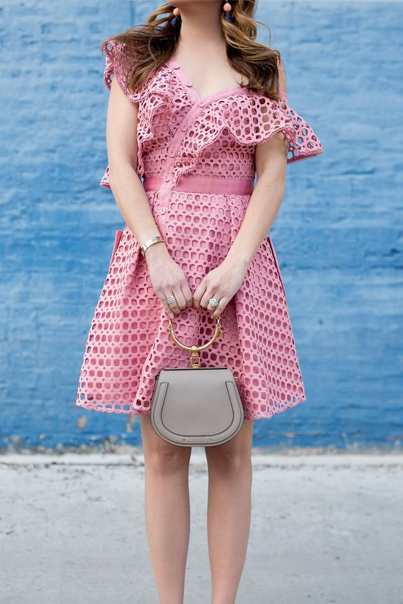 pink sundress crochet