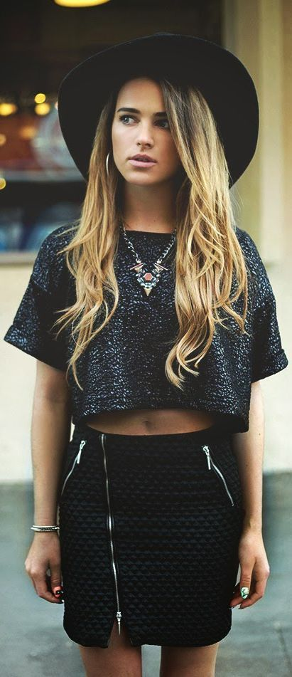 sequined crop top black