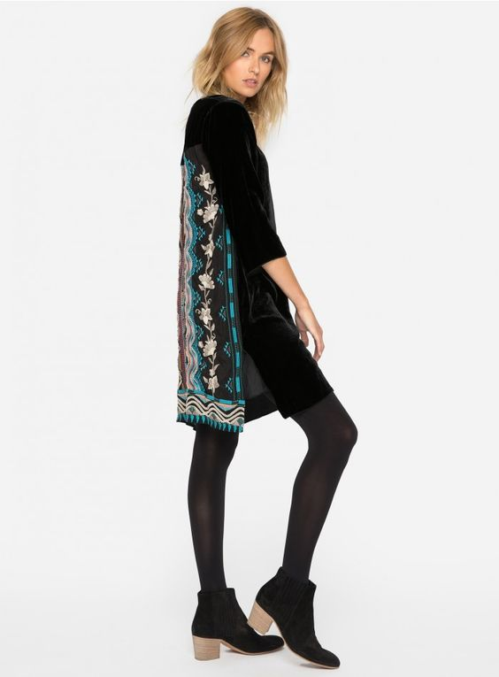 velvet tunic silk back